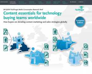 2013/2014 TechTarget Media Consumption Research Brief: Content Essentials for Technology Buying Teams Worldwide--European Edition