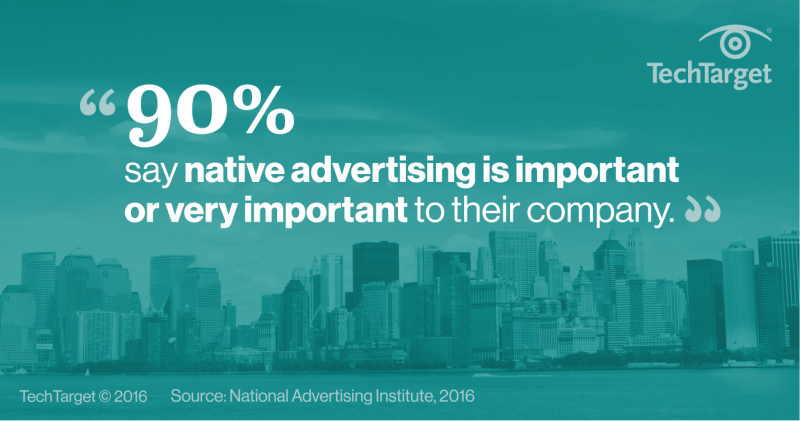 Native advertising statistics